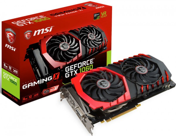 MSI, GeForce GTX 1060, GAMING Х 6G