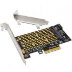 Иллюстрация к новости Подключение M.2 NVMe SSD через PCI-E x16, x8 или x4 разъём любой материнской платы