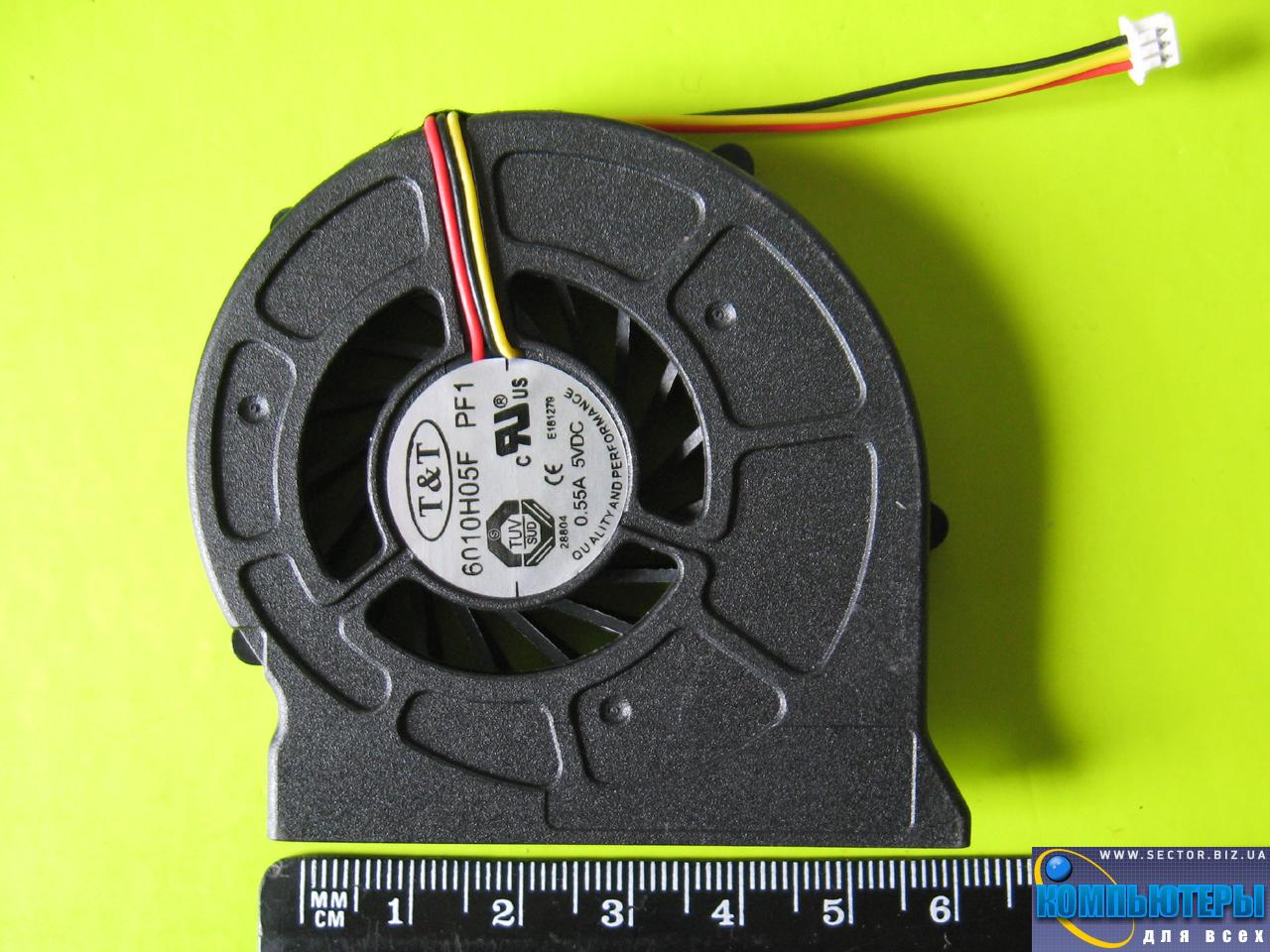 Кулер к ноутбуку MSI CR400 EX460 EX460X EX600 PR400 PR600 MS-1435 MX-1436 MS-1452 MS-163C p/n: 6010H05F PF1. Фото № 4.