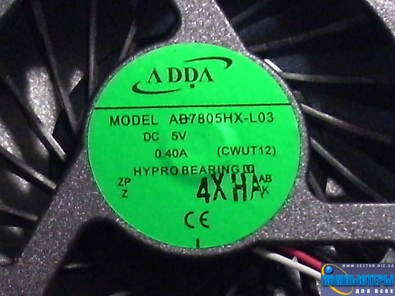 Кулер к ноутбуку HP Pavilion DV6-1000 DV6-1100 DV6-1200 DV6-2000 DV6-2100 DV6-2200 DV6 DV6T DV6Z p/n: AB7805HX-L03. Фото № 5.