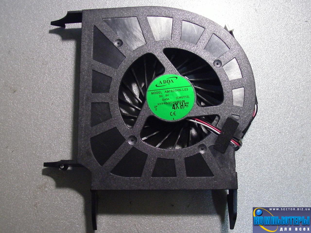 Кулер к ноутбуку HP Pavilion DV6-1000 DV6-1100 DV6-1200 DV6-2000 DV6-2100 DV6-2200 DV6 DV6T DV6Z p/n: AB7805HX-L03. Фото № 4.