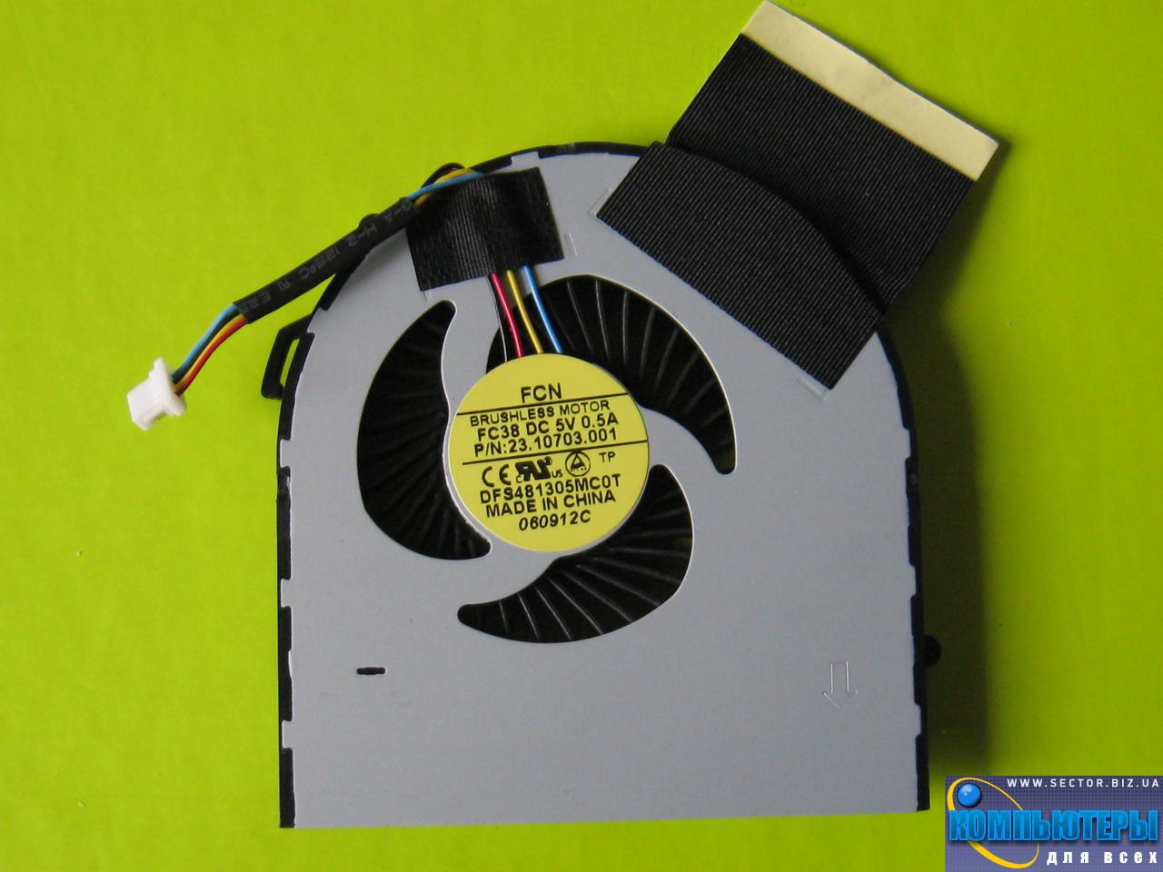 Кулер к ноутбуку Acer Aspire V5-471 V5-471G V5-531 V5-531G V5-571 V5-571G p/n: DFS481305MC0T FC38 23.10703.001. Фото № 3.