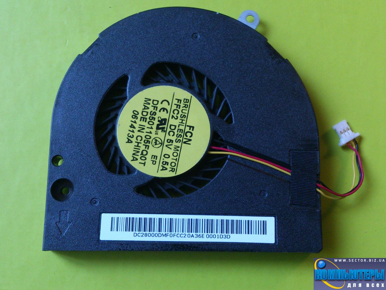 Кулер к ноутбуку Acer Aspire V5-561 V5-561G V5-561P V5-561PG p/n: DFS501105FQ0T FFC2. Фото № 3.