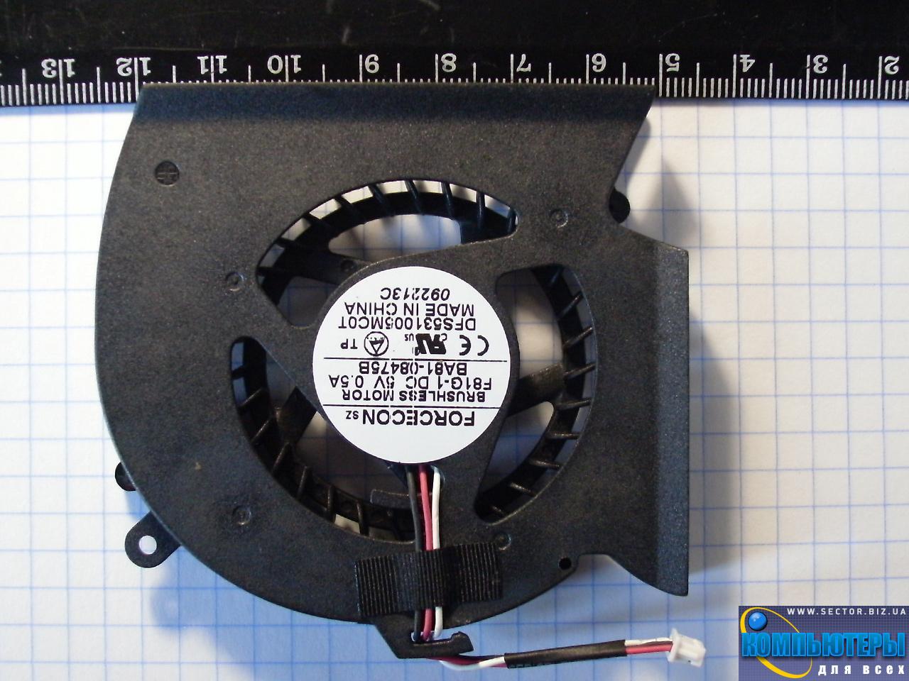 Кулер к ноутбуку Samsung P530 R523 R525 R528 R530 R538 R540 p/n: DFS531005MC0T F81G-1. Фото № 1.