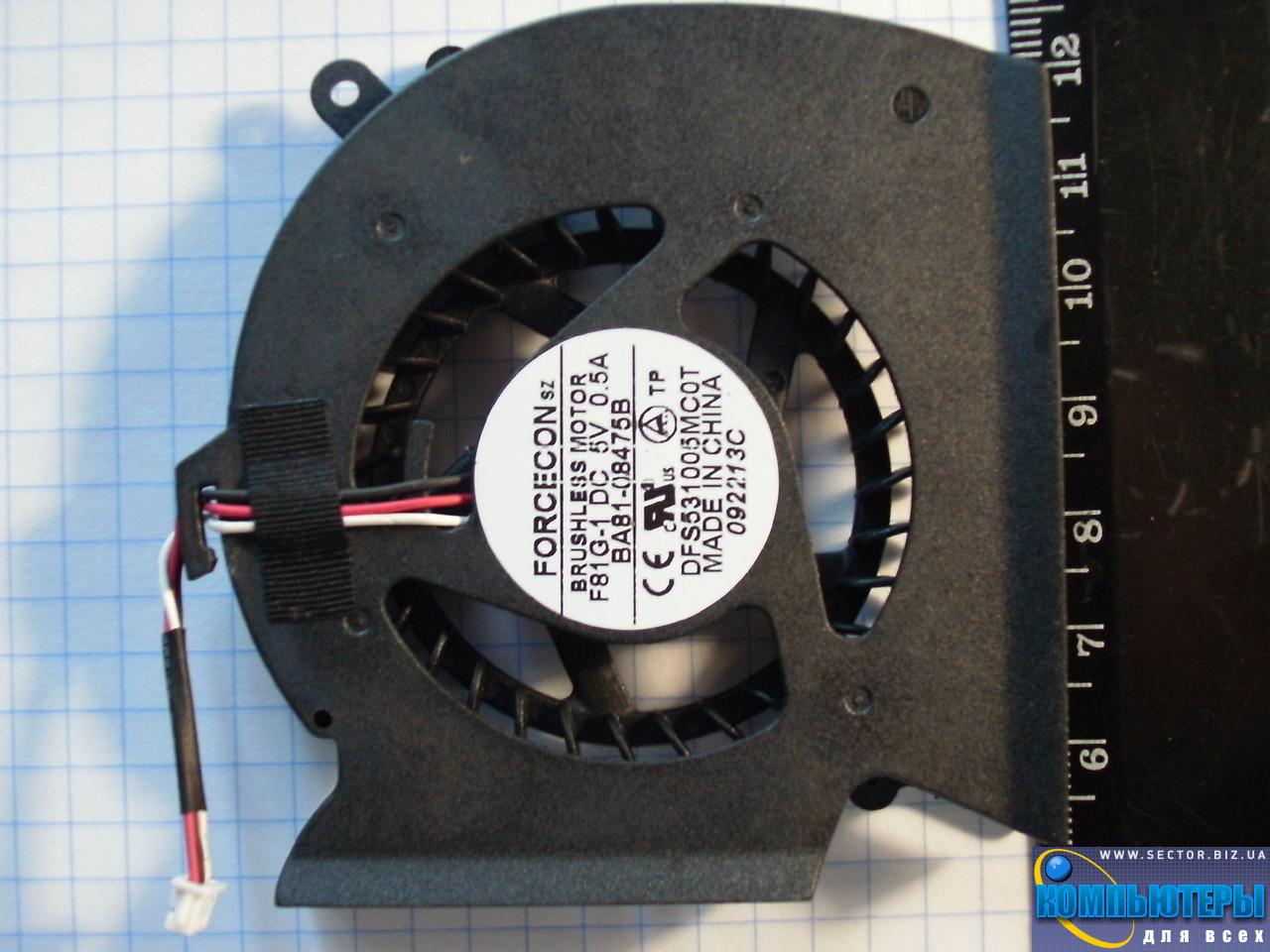 Кулер к ноутбуку Samsung P530 R523 R525 R528 R530 R538 R540 p/n: DFS531005MC0T F81G-1. Фото № 5.