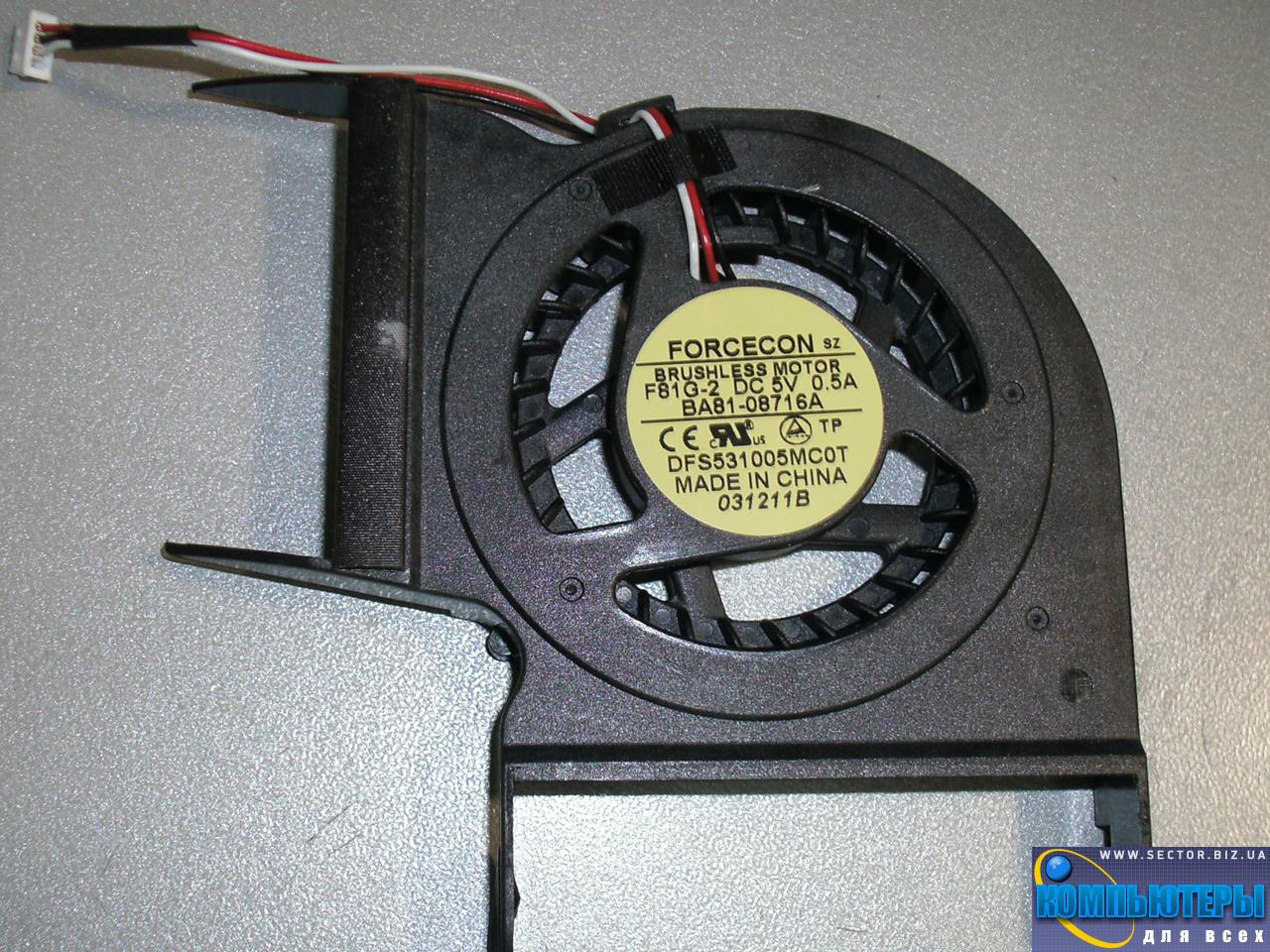 Кулер к ноутбуку Samsung R428 R429 R480 R478 R403 P428 R439 R440 p/n: DFS531005MC0T F81G-2. Фото № 3.