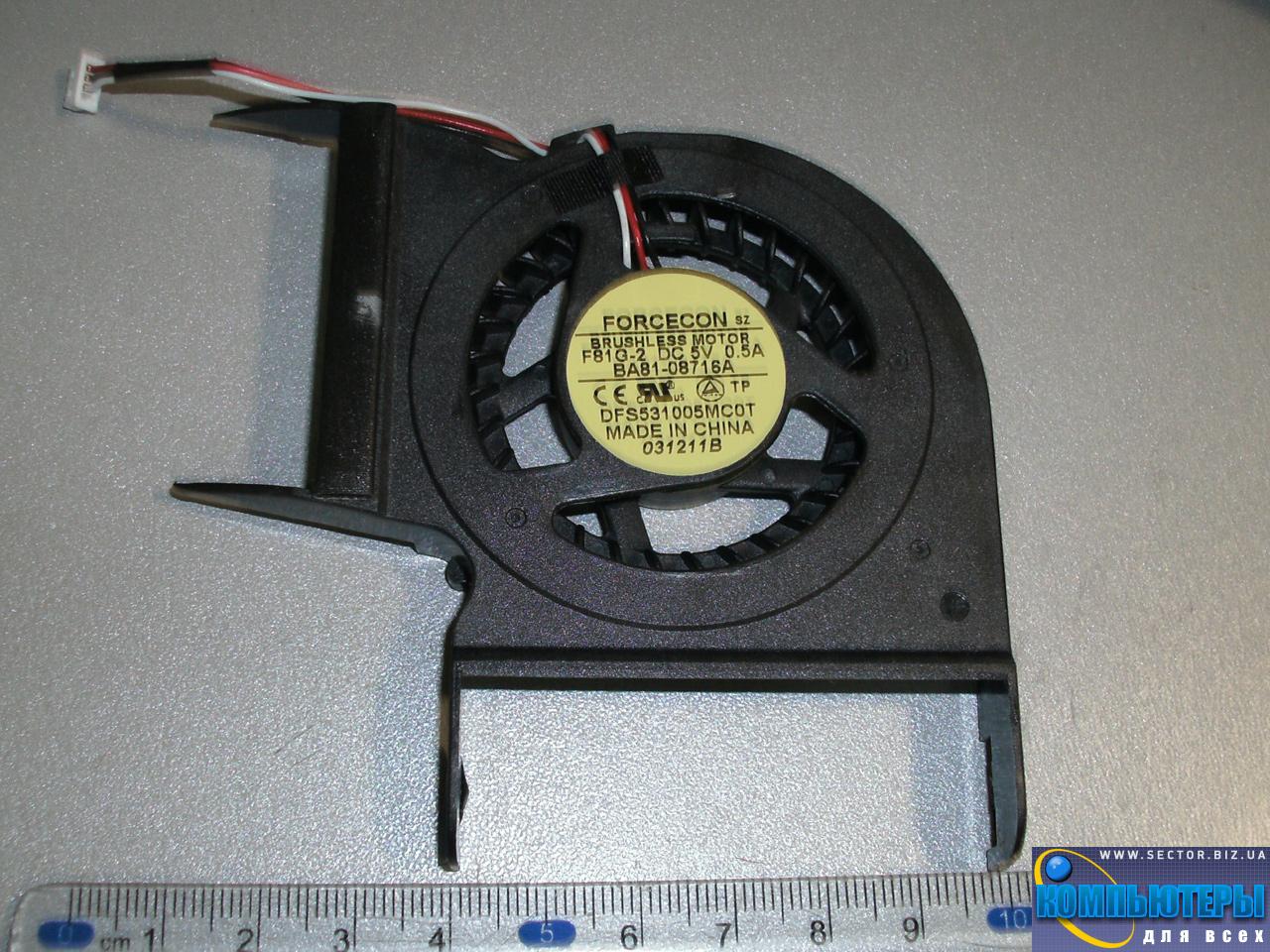Кулер к ноутбуку Samsung R428 R429 R480 R478 R403 P428 R439 R440 p/n: DFS531005MC0T F81G-2. Фото № 1.