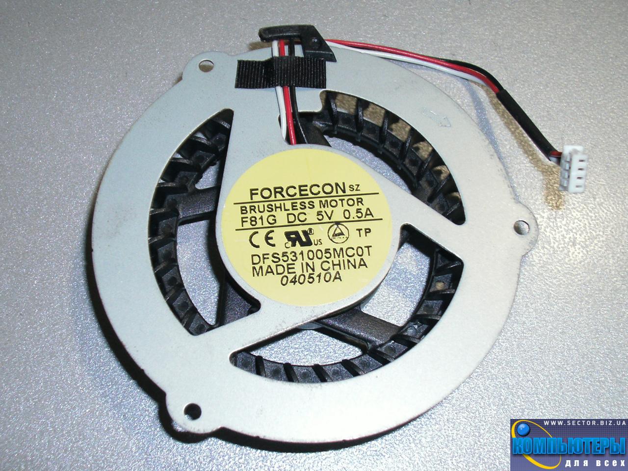 Кулер к ноутбуку Samsung R425 R463 R467 R468 R470 R517 R518 p/n: DFS531005MC0T F81G. Фото № 4.