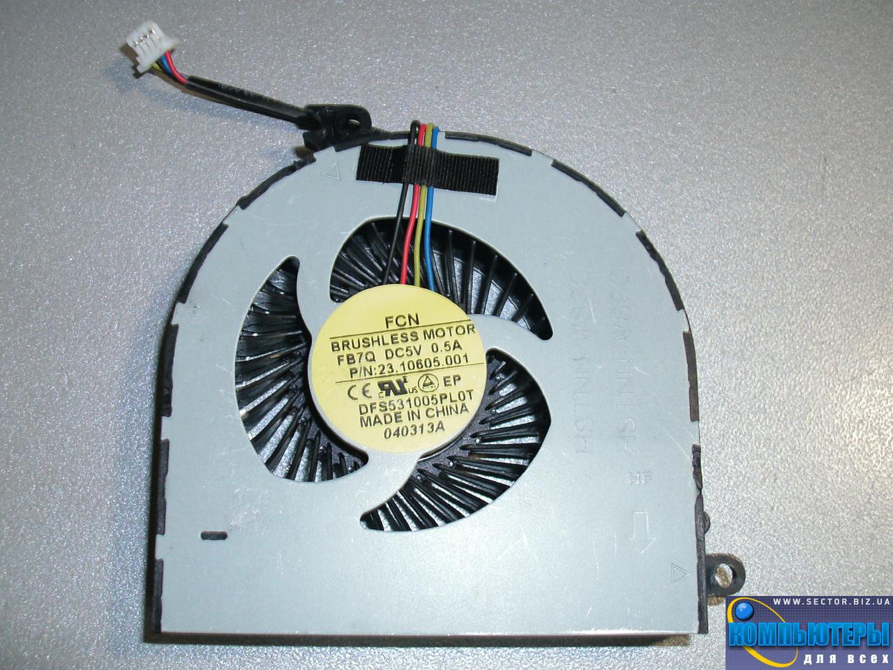 Кулер к ноутбуку HP ProBook 4440S 4441S 4445S 4446S p/n: DFS531005PL0T FB7Q 23.10605.001. Фото № 3.