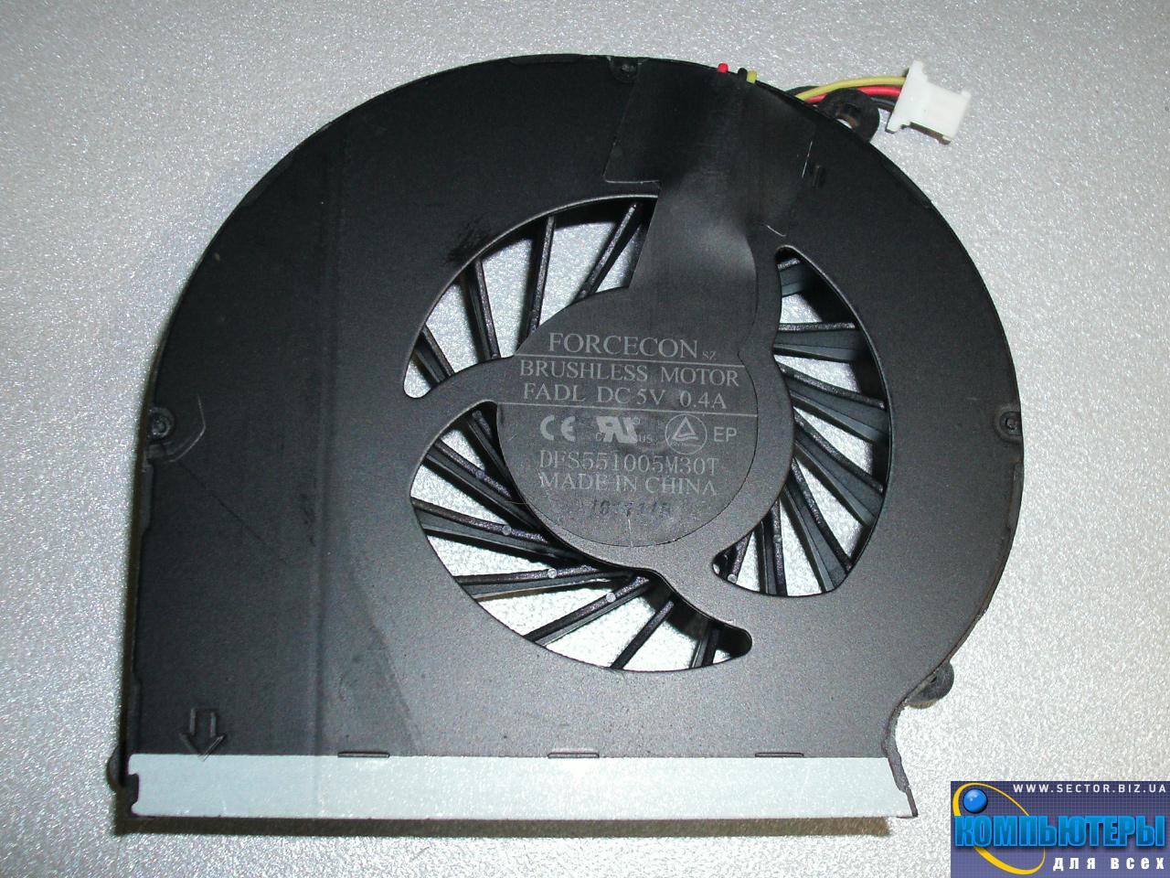 Кулер к ноутбуку HP Compaq CQ43 CQ57 CQ631 CQ635 G57 G43  430 431 435 436 630 p/n: DFS551005M30T FADL. Фото № 1.