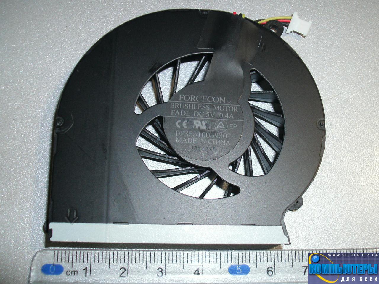 Кулер к ноутбуку HP Compaq CQ43 CQ57 CQ631 CQ635 G57 G43  430 431 435 436 630 p/n: DFS551005M30T FADL. Фото № 2.