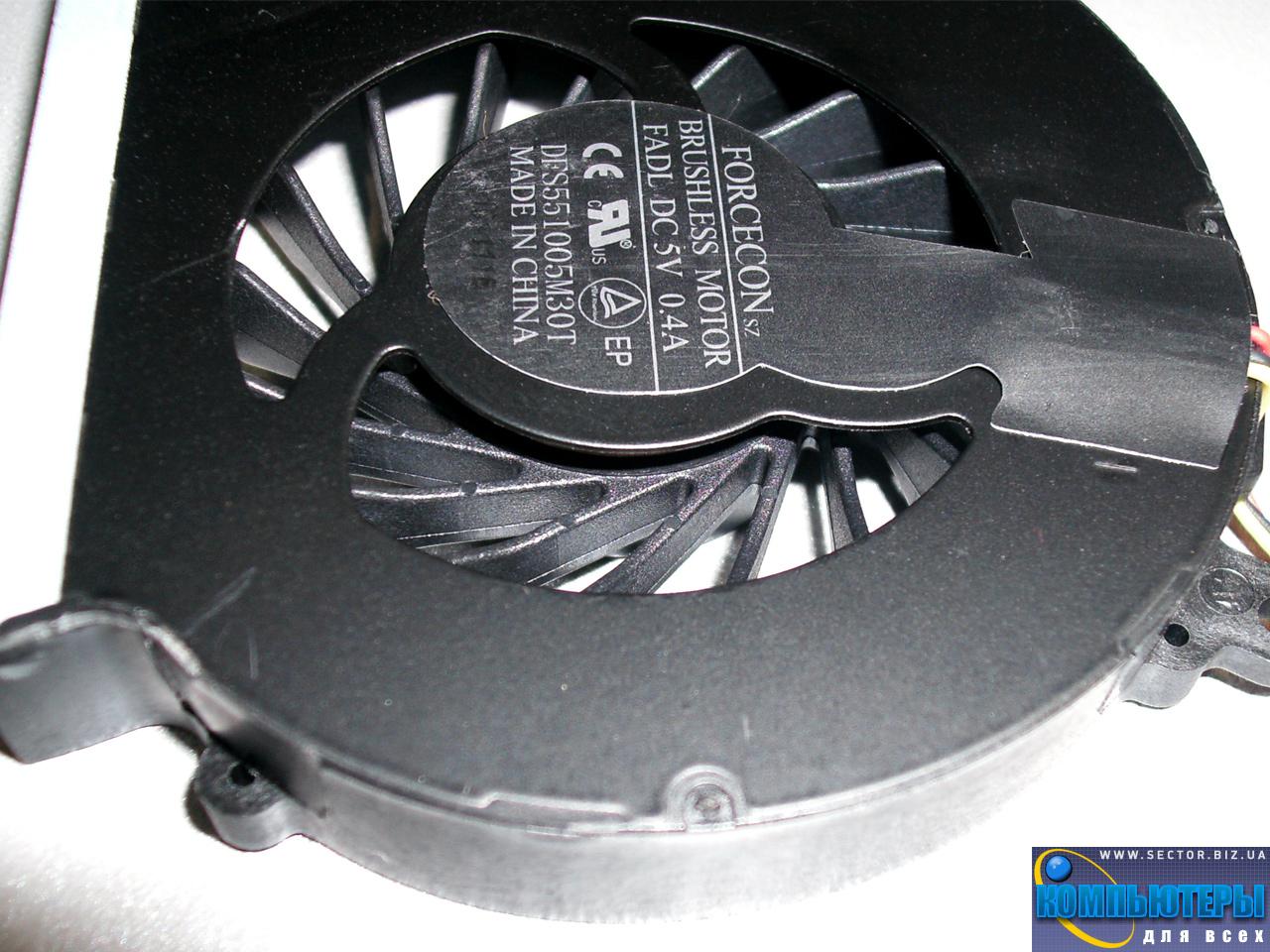 Кулер к ноутбуку HP Compaq CQ43 CQ57 CQ631 CQ635 G57 G43  430 431 435 436 630 p/n: DFS551005M30T FADL. Фото № 3.