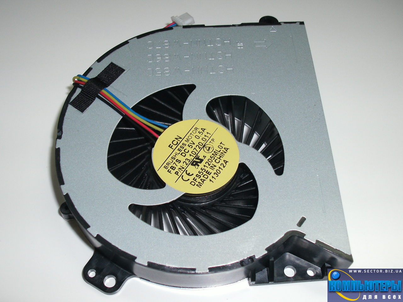 Кулер к ноутбуку HP ProBook 4540S 4740S 4750S p/n: DFS551205ML0T FB7S 23.10720.001. Фото № 2.