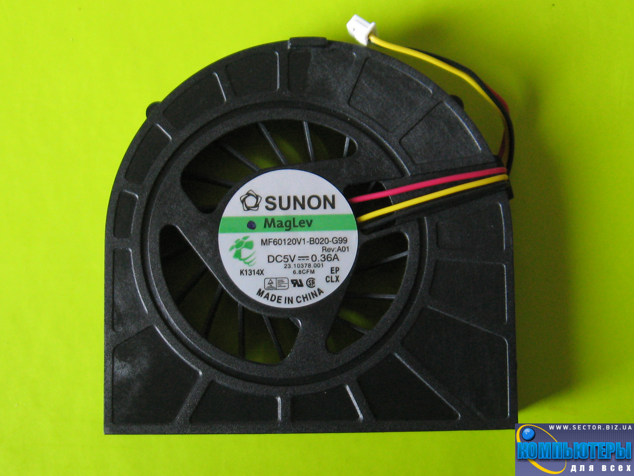 Кулер к ноутбуку Dell Inspiron 15R N5010 M5010 p/n: MF60120V1-B020-G99. Фото № 3.