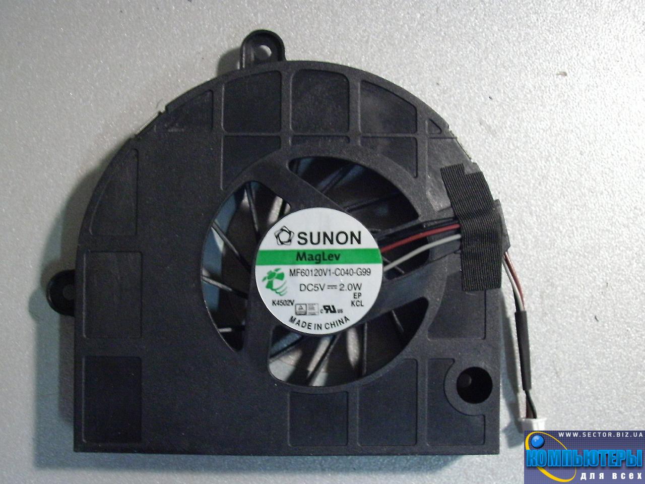 Кулер к ноутбуку Emachines E442 E443 E529 E644 E729 p/n: MF60120V1-C040-G99. Фото № 3.