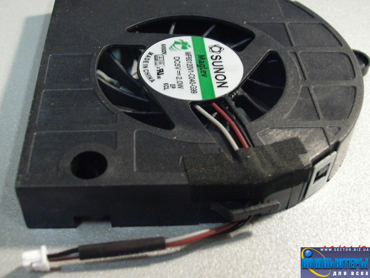 Кулер к ноутбуку Emachines E442 E443 E529 E644 E729 p/n: MF60120V1-C040-G99. Фото № 1.