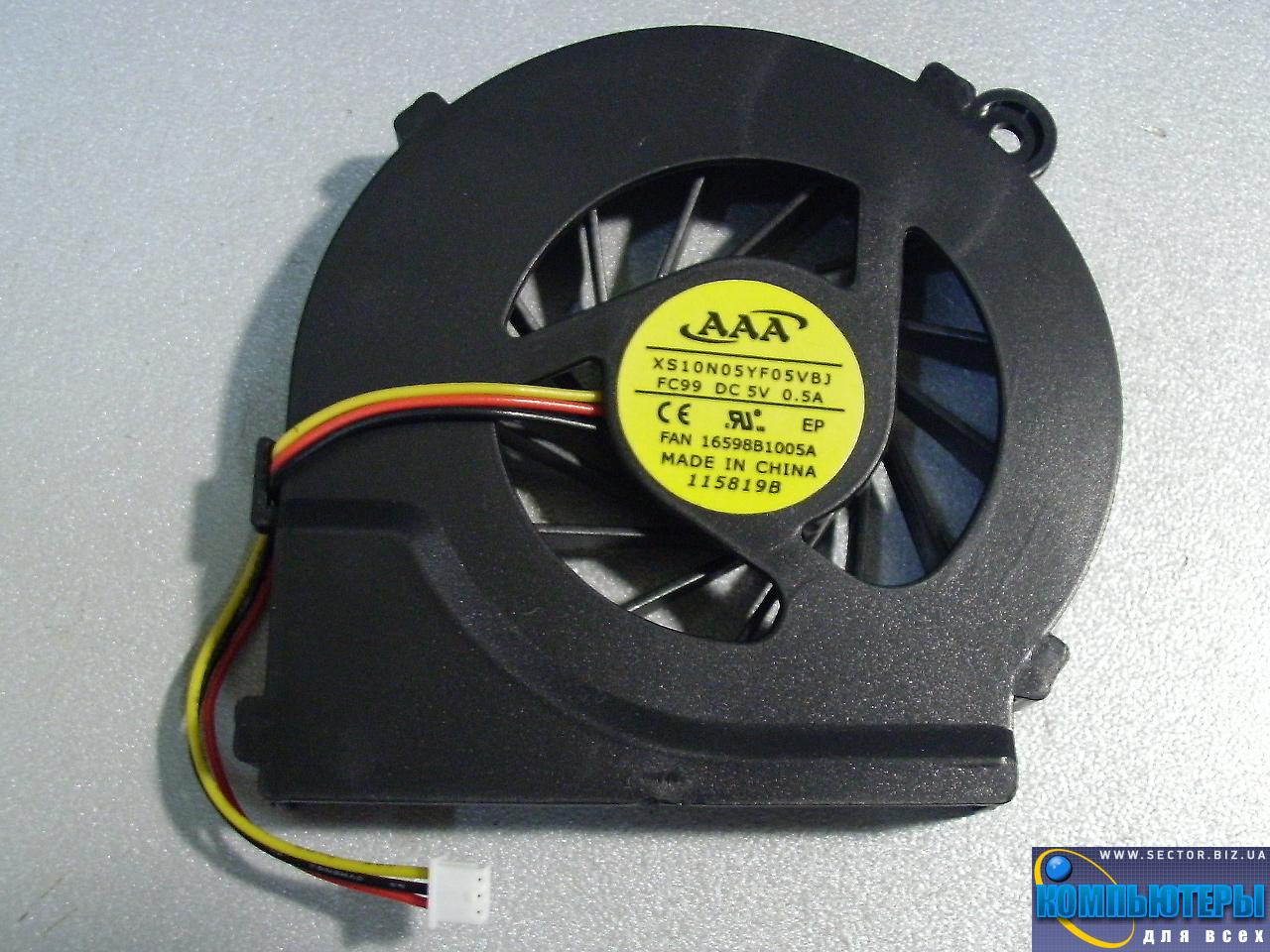 Кулер к ноутбуку HP Compaq CQ42 G42 G4 G6 G7 CQ56 G56 p/n: XS10N05YF05VBJ. Фото № 3.